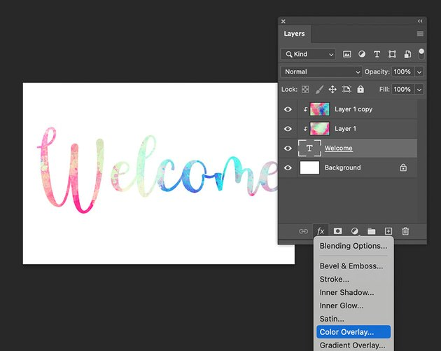 Put Texture On Text Layer Styles