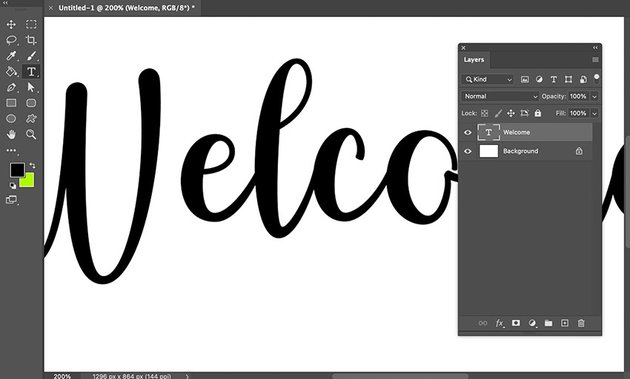 Put Texture On Text Layers Panel