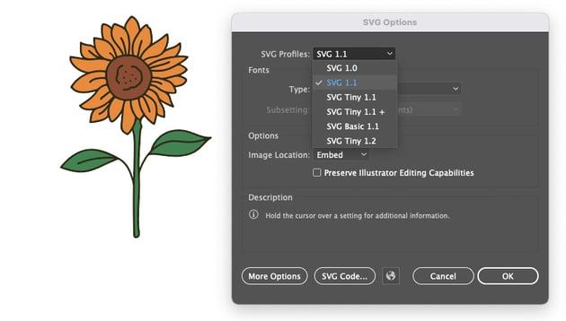 Cricut Save SVG Illustrator Profile