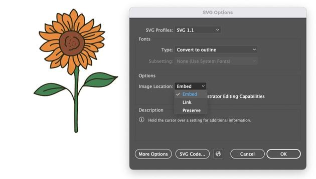 Cricut SVG Illustrator Embed