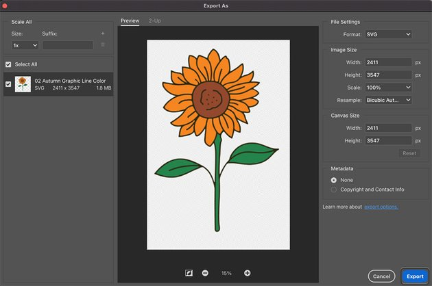 SVG File Save As Photoshop