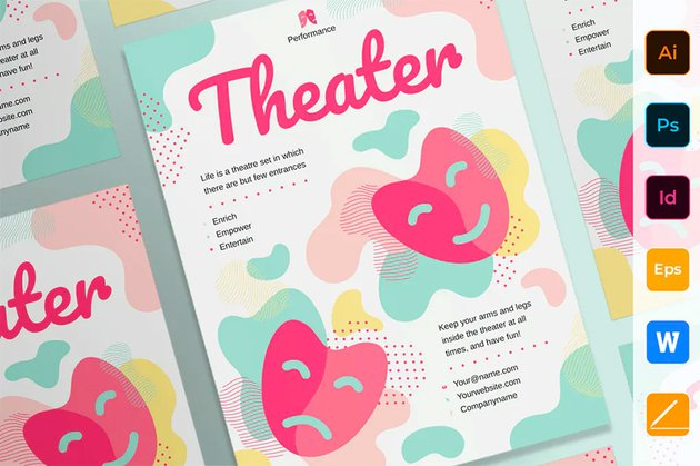 Envato Elements Theater Poster