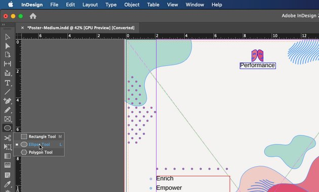 Curve Text InDesign Select Curved Path Tool