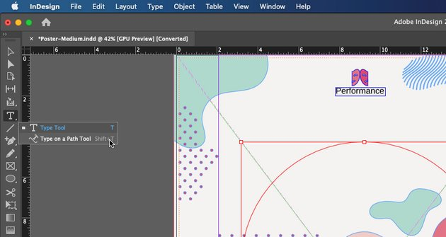Curve Text Type on. a Path Tool InDesign