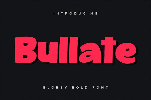Bullate Bold Font