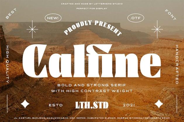 Calfine Cool Bold Fonts