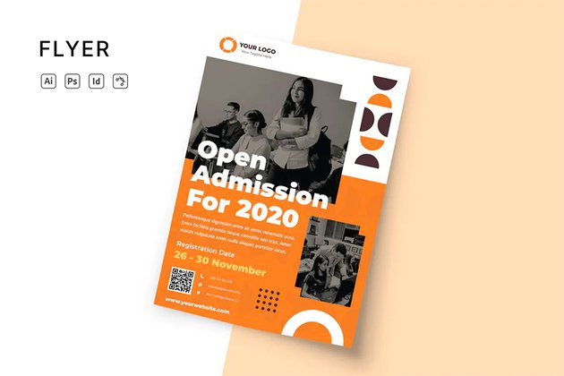 Envato Elements InDesign Admission Template