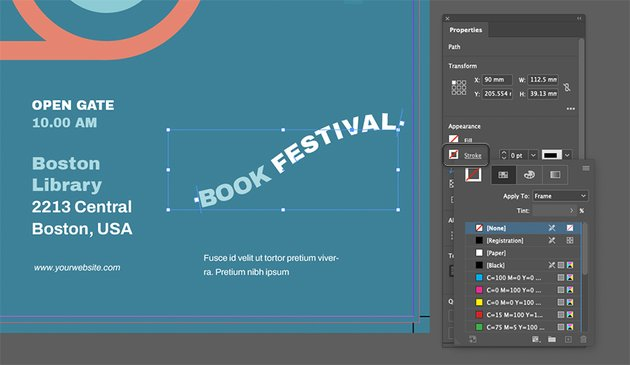 InDesign Type on a Path Tool Invisible