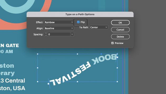 InDesign Text on a Path Options Flip