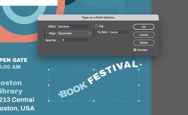 InDesign Type on Path Options Align