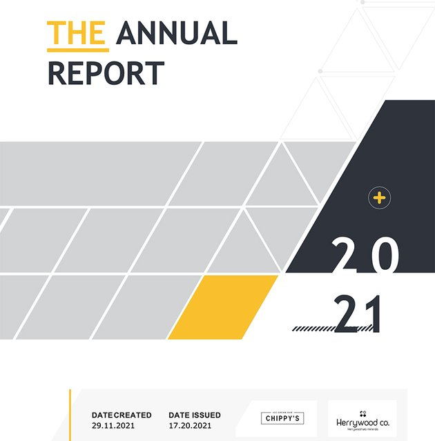 Annual Report Customize Text