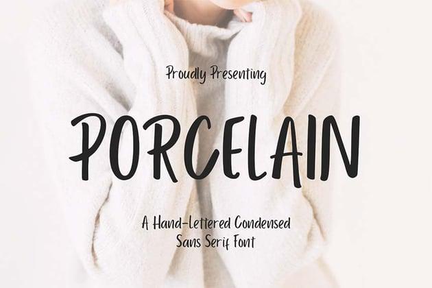 Porcelain - Silhouette Script Font