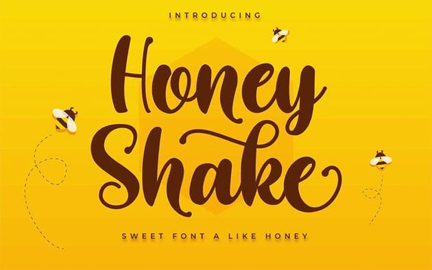 Honey Shake - Silhouette Cursive Font