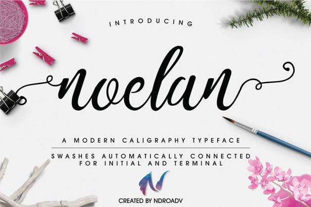 Noelan - Silhouette Cursive Font