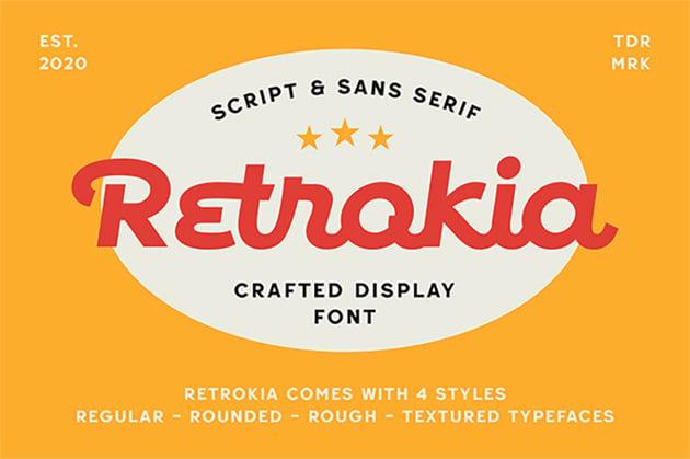 Retrokia - Silhouetto Script Font