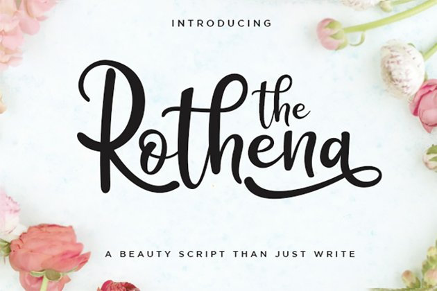The Rothena - Silhouette Script Font