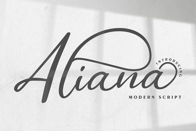 Aliana - Silhouetto Script Font