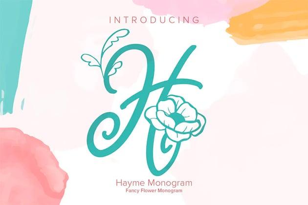 Hayme Silhouette Monogram Font