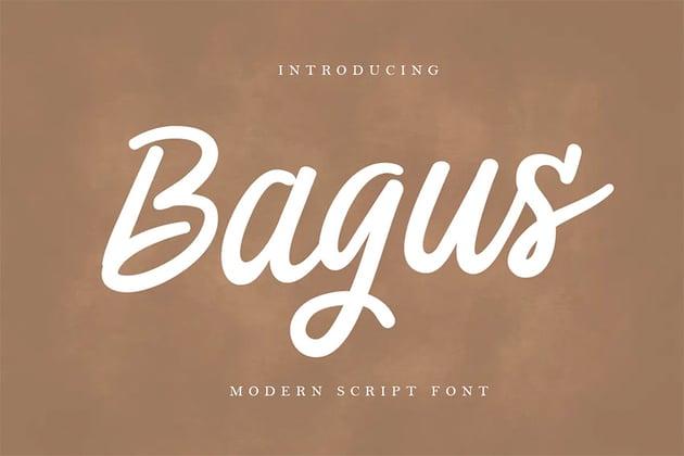 Bagus - Silouetto Script Font