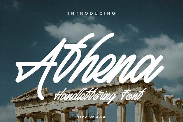 Athena (Popular Script Fonts)