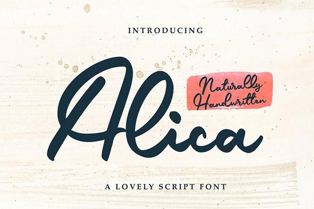 Alica (Popular Script Fonts for Cricut)