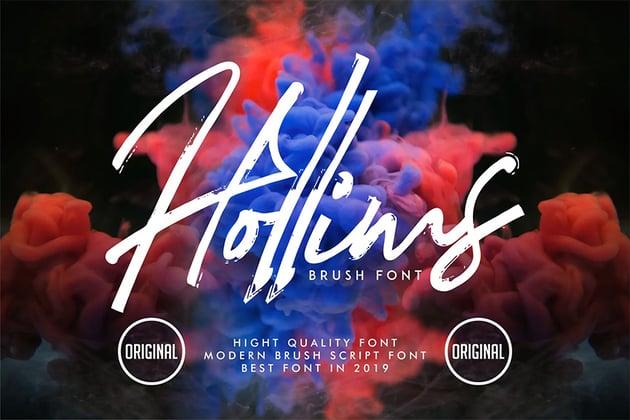 Hollims (Popular Brush Script Fonts)
