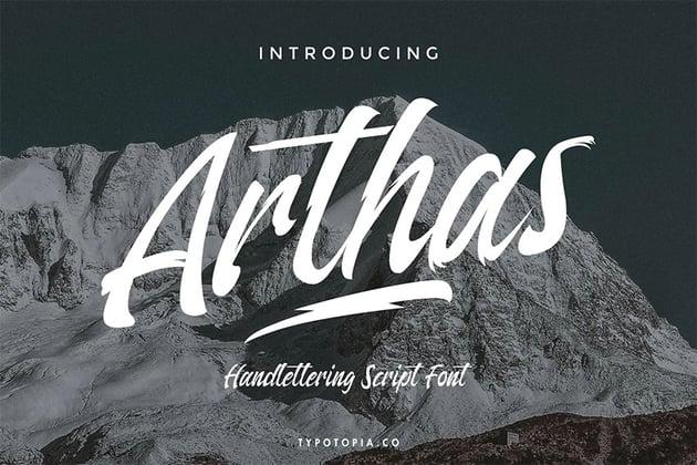 Arthas (Popular Brush Script Fonts)