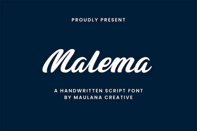 Malema (Most Popular Script Fonts)