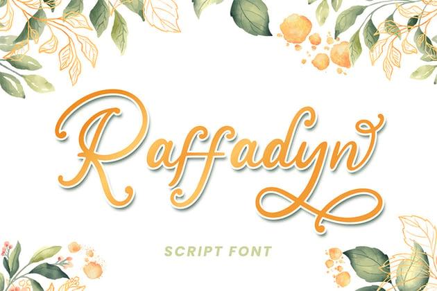 Raffadyn (Popular Wedding Invitation Font)
