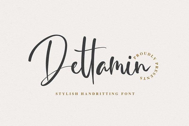 Dettamin (Popular Script Fonts)