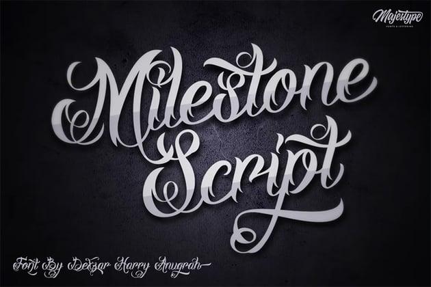 Milestone (Popular Tattoo Script Fonts)