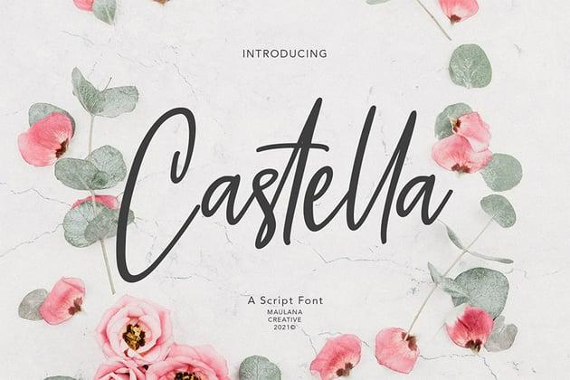 Castella (Popular Wedding Invitation Font)