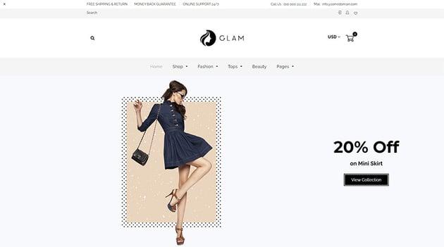 Glam - Minimal Shopify Theme