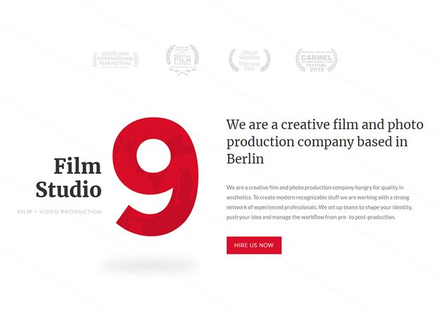 Nine Studio - Director Movie Photography  Filmmaker WordPress Theme