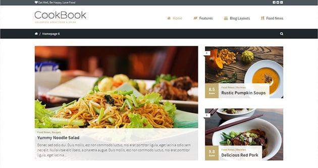 CookBook - Food Magazine Blog