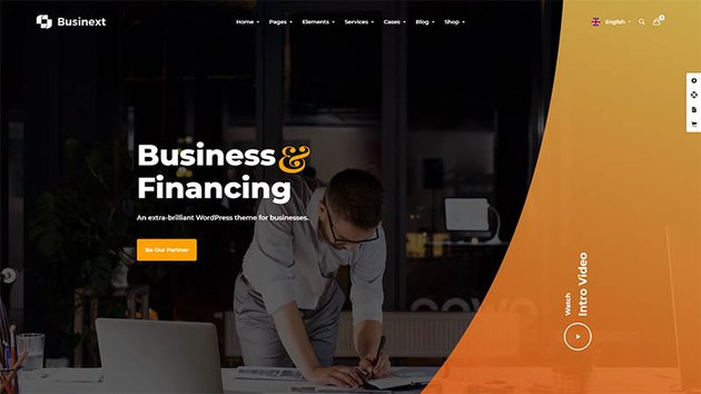 Business and Financial Institution WordPress Theme - Businext