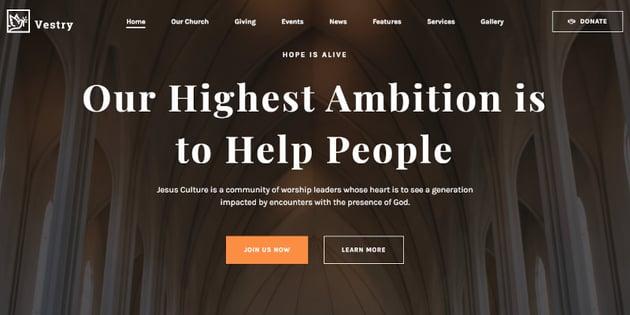 Vestry - Church WordPress