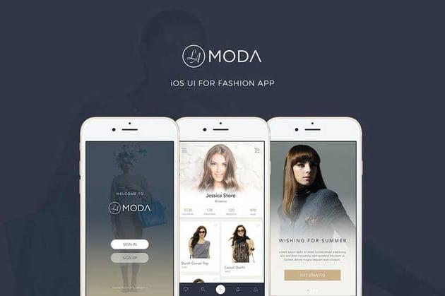 LaModa Fashion iOS App UI