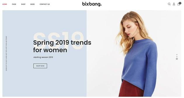 Bixbang  Minimalist eCommerce Shopify Template