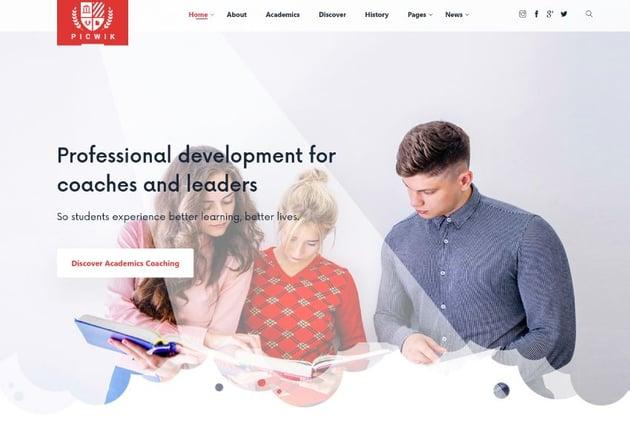 Picwik - University, Education HTML Landing Page