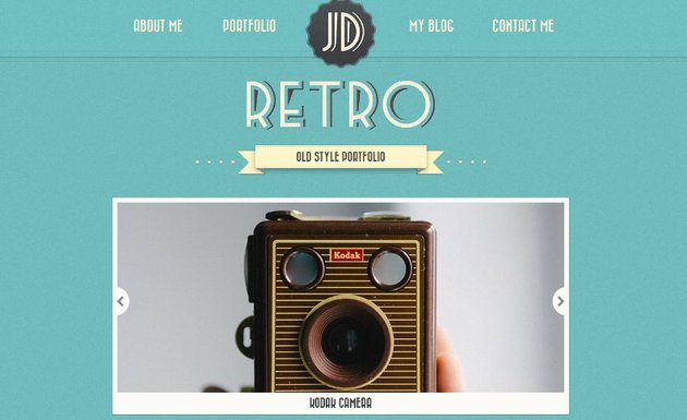 Retro Portfolio - One Page Vintage WordPress Theme