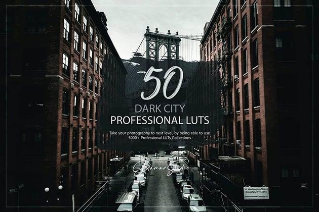 50 Dark City LUTs Pack