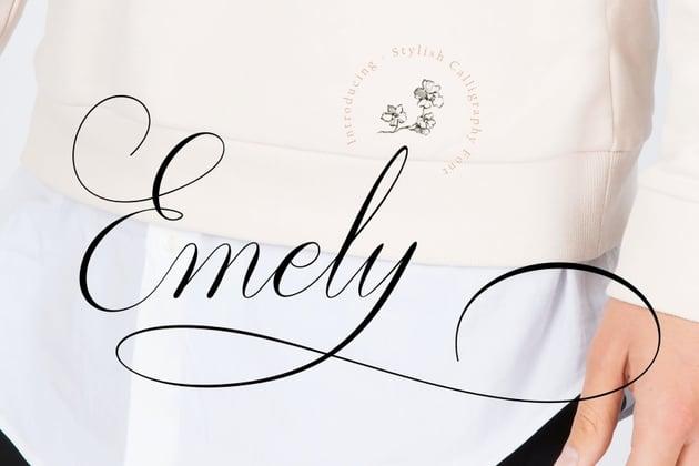 Emely Script Font
