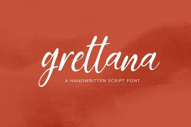 Grettana Script Font
