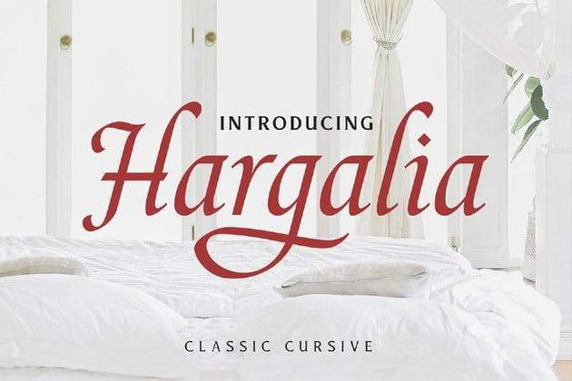 Hargalia - Cursive Calligraphy Font