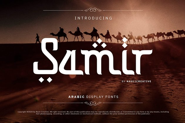 Samir - Elegant Arabic Style Font (OTF, TTF, WOFF)