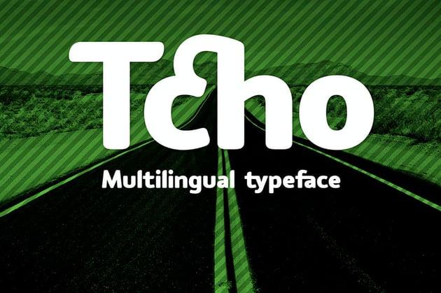 Tcho - Multilingual Typeface (OTF, TTF)