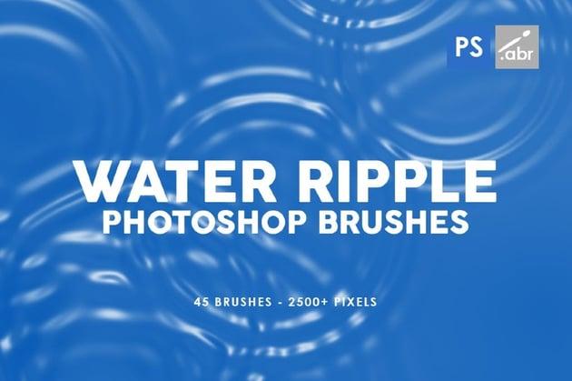 Photoshop Water Ripple Brush Pack