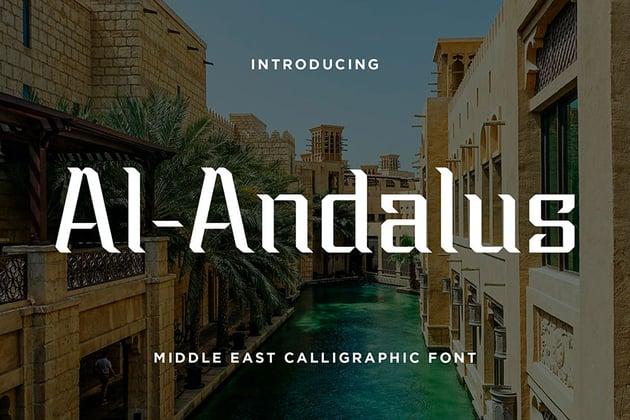 Al-Andalus: Arabic Style Font (OTF, TTF)