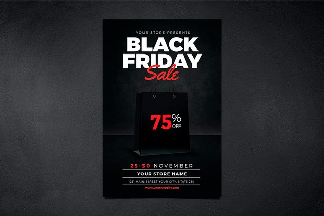 Black Friday Event Flyer (PSD)